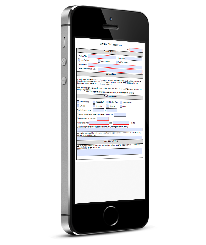 PDF Forms on Mobile - Original fixed layout