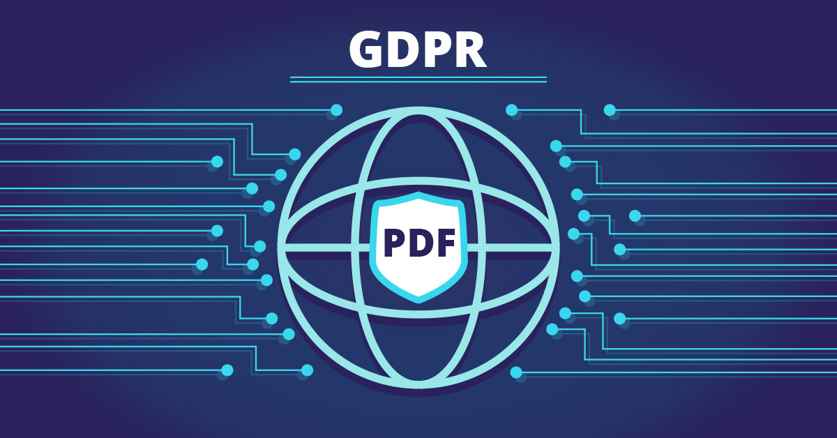 GDPR and personal data in PDF. How to access and process them?